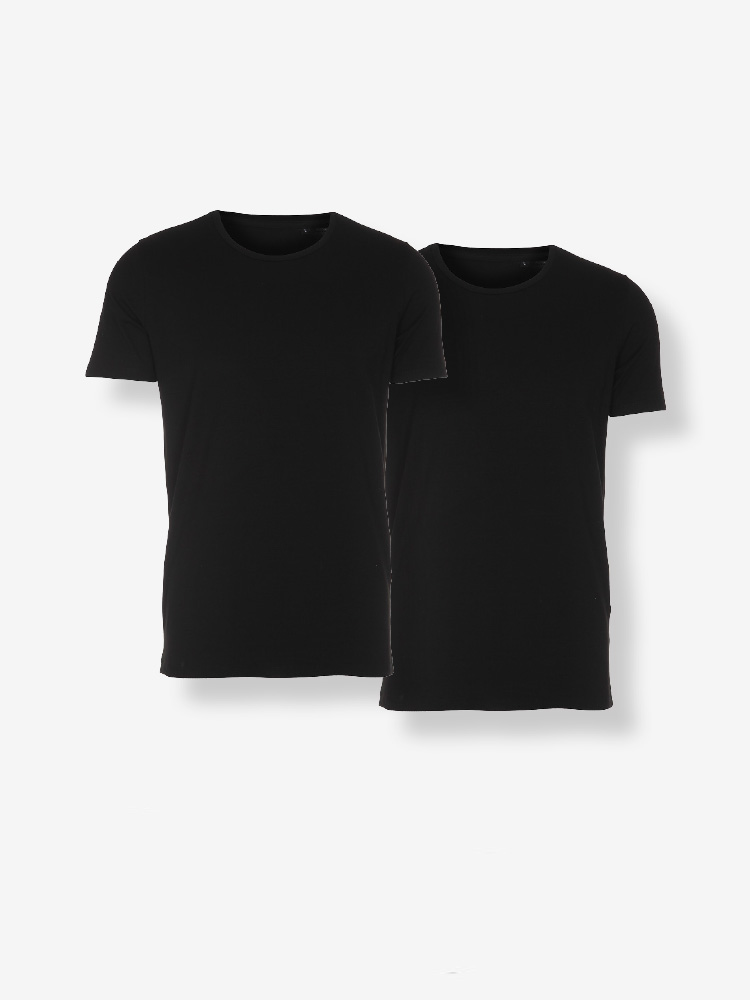 2-PACK CLASSIC TEE, REGULAR FIT, 2X BLACK