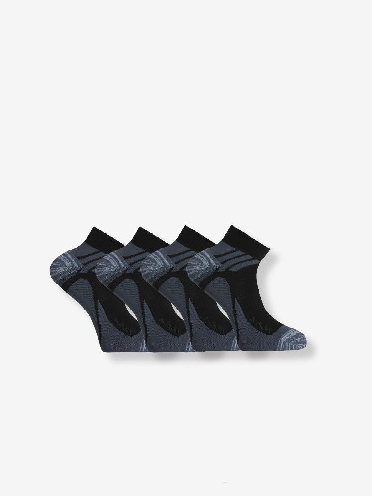 4-PACK SUPERLITE SPORT SOCKS, BLACK