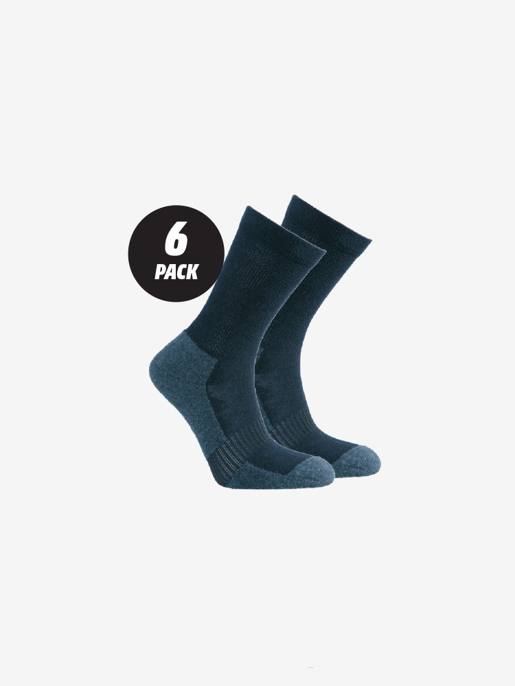 6-PACK COTTON AT WORK SOCKS