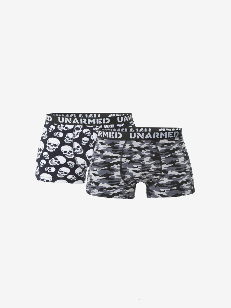 2-PACK UNARMED BOXER SHORTS, SKULL