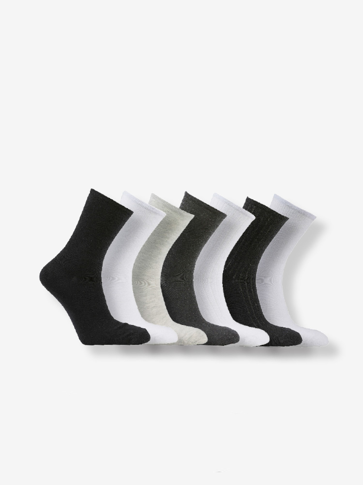 7-PACK COTTON STRUCTURE SOCKS, MIX