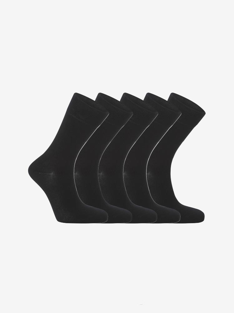 5-PACK BAMBOO REGULAR SOCKS BLACK