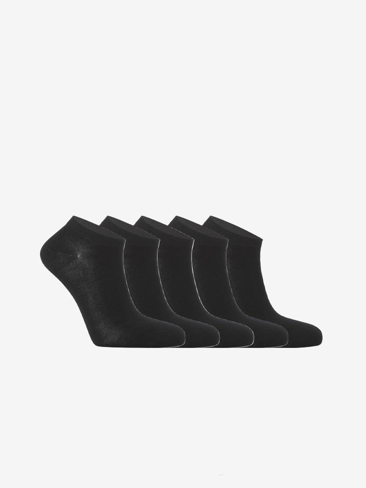 5-PACK BAMBOO SNEAKER SOCKS BLACK