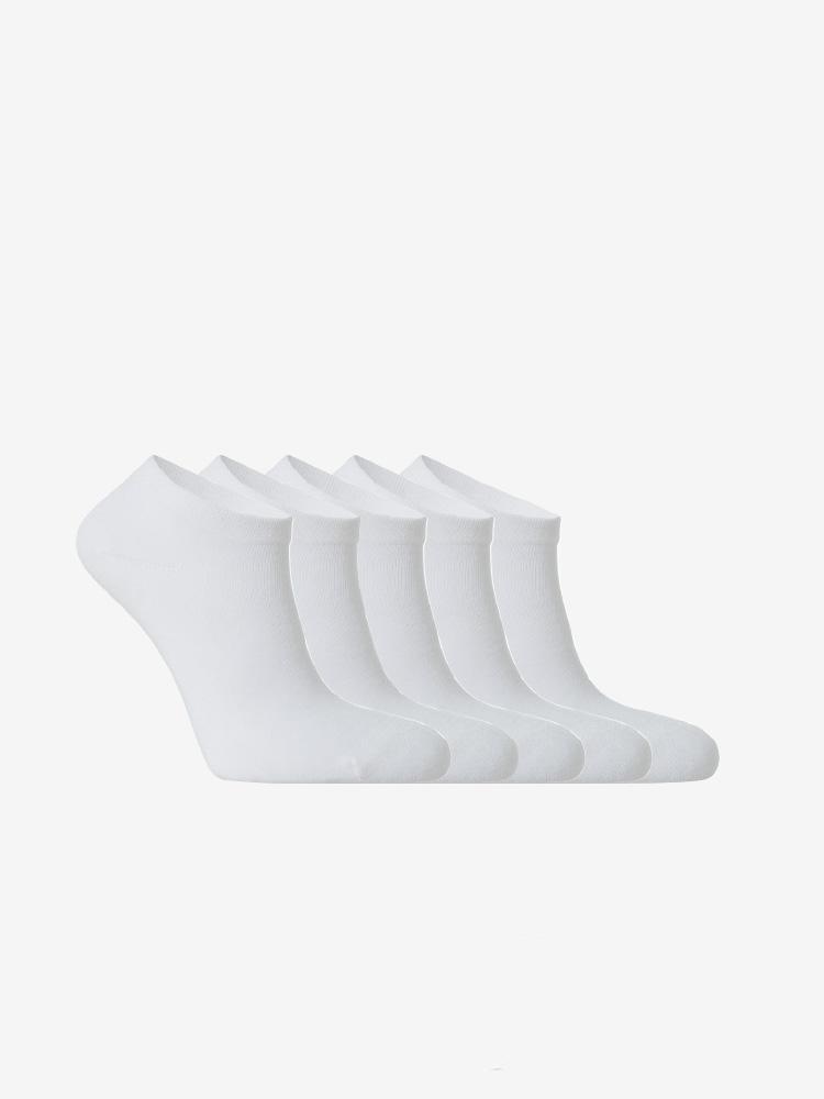 5-PACK BAMBOO SNEAKER SOCKS WHITE