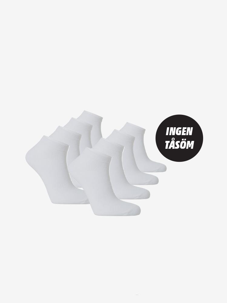 8-PACK WHITE LINE SNEAKER SOCKS