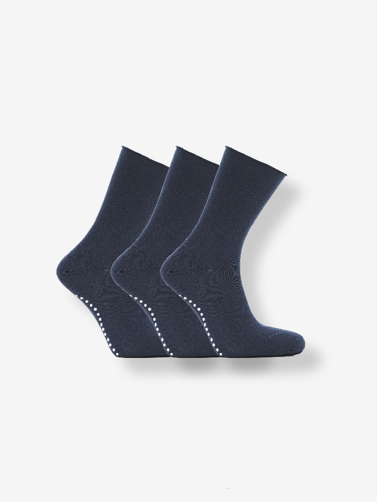 3-PACK ANTISLIP SOFT HOLD SOCKS BLACK