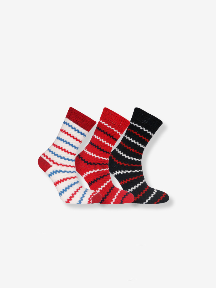 3-PACK  WOOL TERRY SOCKS MIX