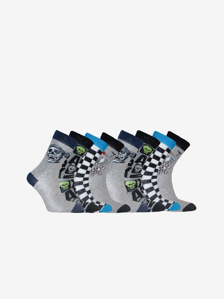 8 PACK COOL SOCKS, MIX